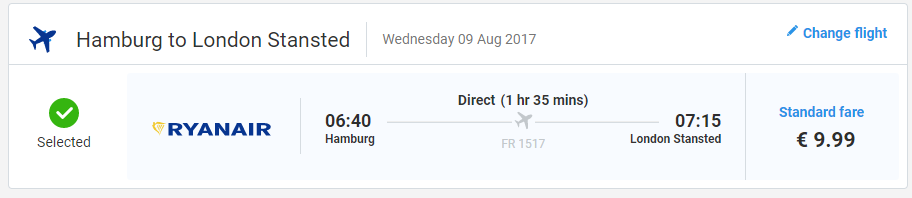 letenky Hamburg - Londýn