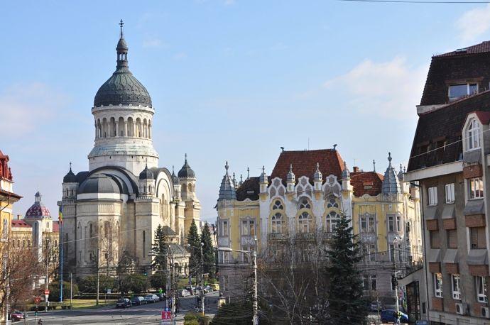 Ortodoxná katedrála v meste Kluž v Rumunsku