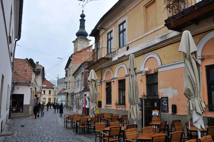 mesto Kluž v Rumunsku Transilvánia