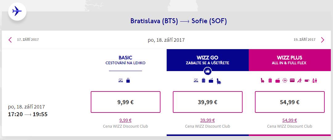 letenky z Bratislavy do Sofie
