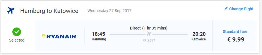 letenky z Hamburgu do Katovíc