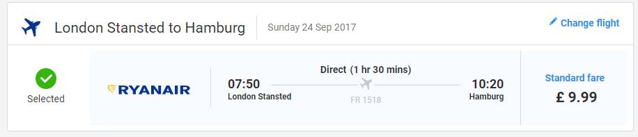letenky z Londýna do Hamburgu
