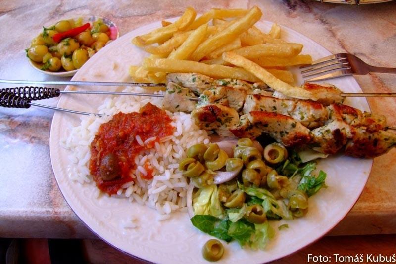 Brochette marocké jedlo