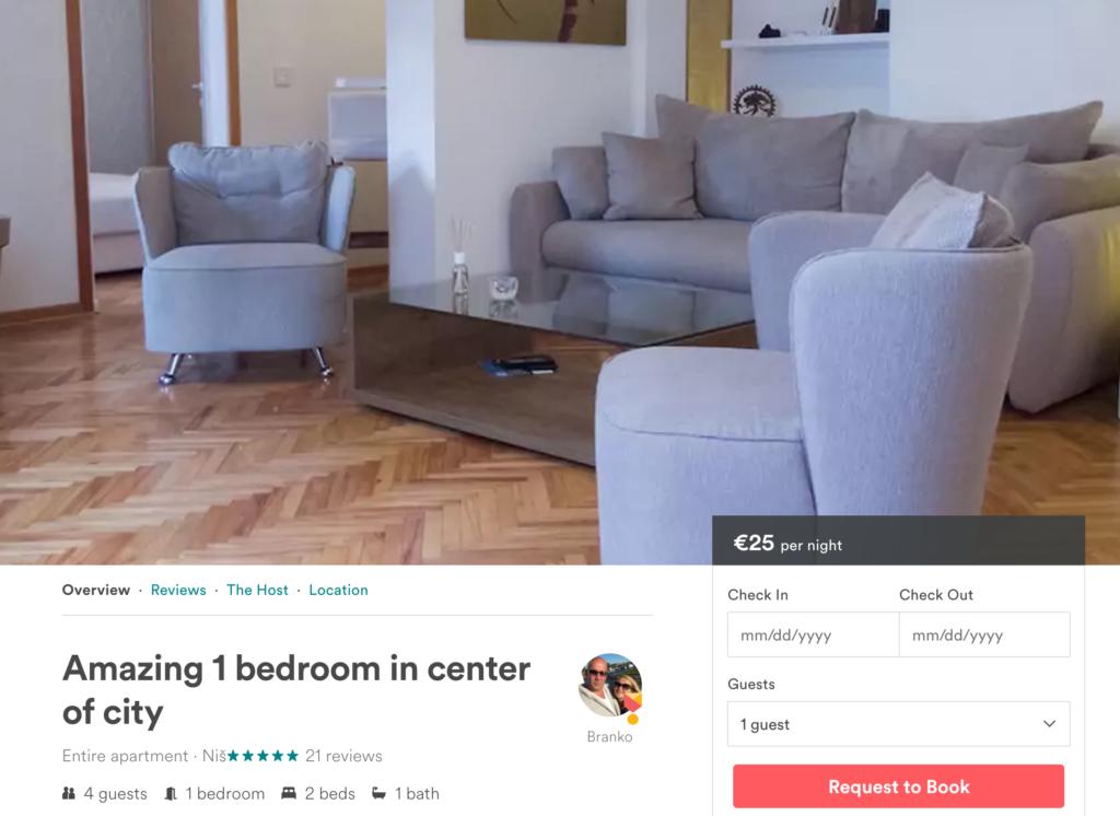 airbnb niš