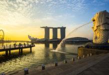 Východ Slnka v Singapure