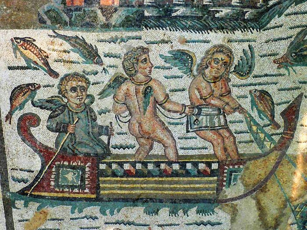 Armerina sicilia v taliansku - freska