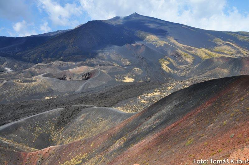 Sopka Etna na Sicílii