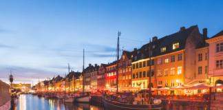 večerná Kodaň