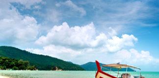 pláž na ostrove Penang