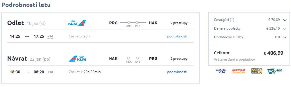 letenky z Prahy na ostrov Hainan