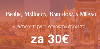 trip Berlín, Mallorca, Barcelona, Miláno