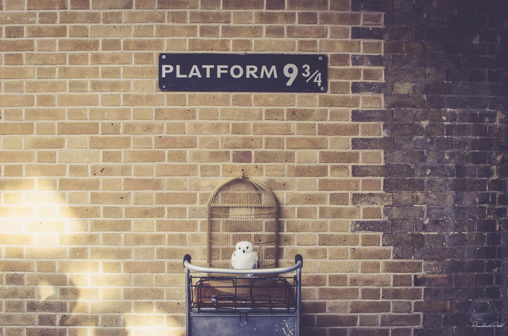 Nástupište 9 a 3/4, kde zmizol Harry Potter