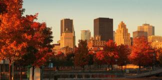 mesto Quebec na jeseň