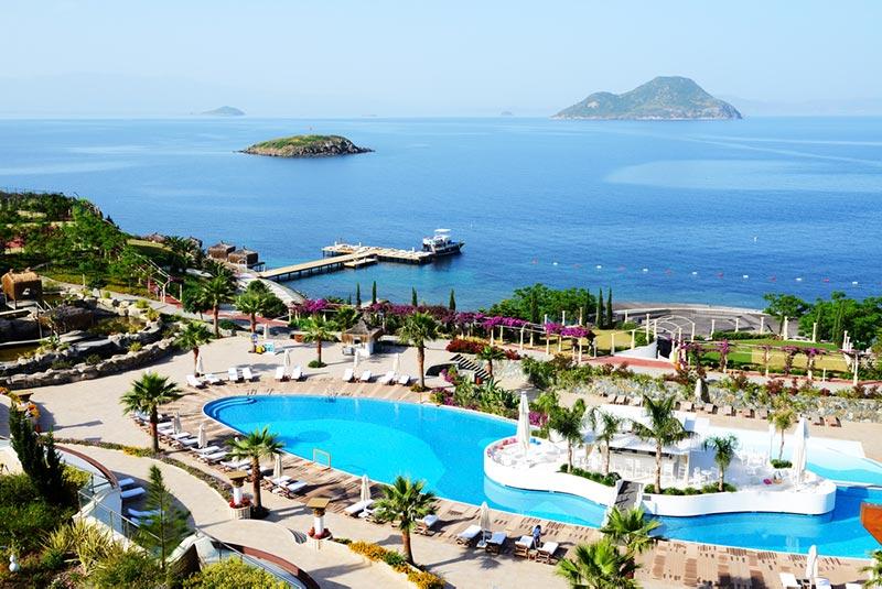 pláž a rezort v Turecku