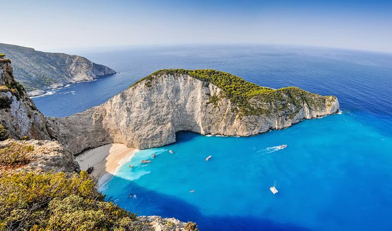 zakhyntos ostrov v grécku