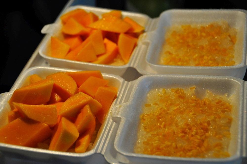 mango sticky rice jedlo z thajska