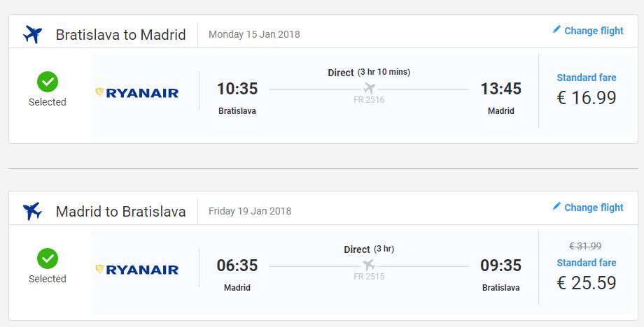 letenky Madrid