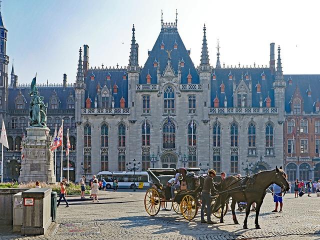 Budova radnice, ktorá sa objavila vo filme V Bruggách