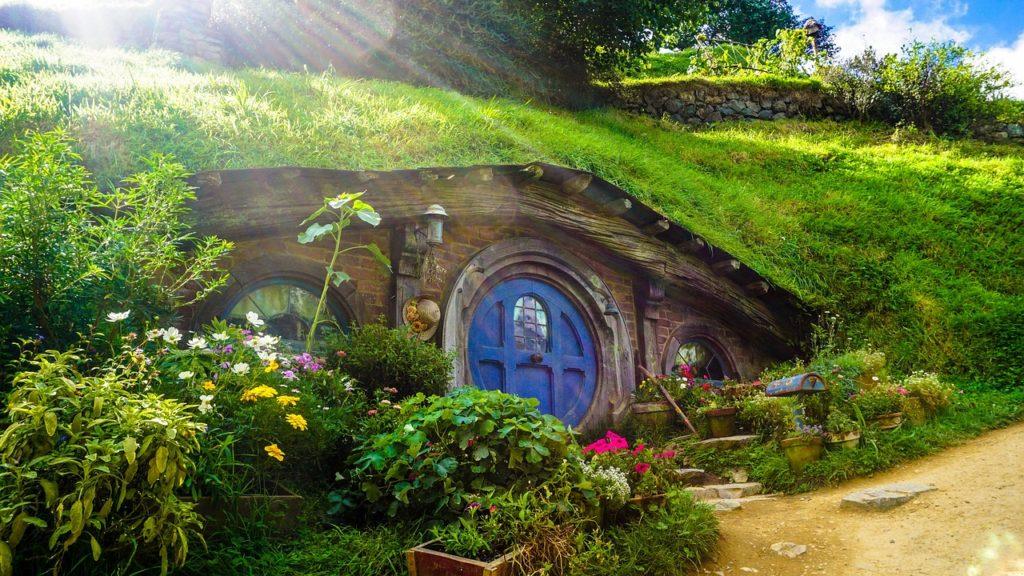 Hobbiton, kde sa natáčal Pán prsteňov Nový Zéland