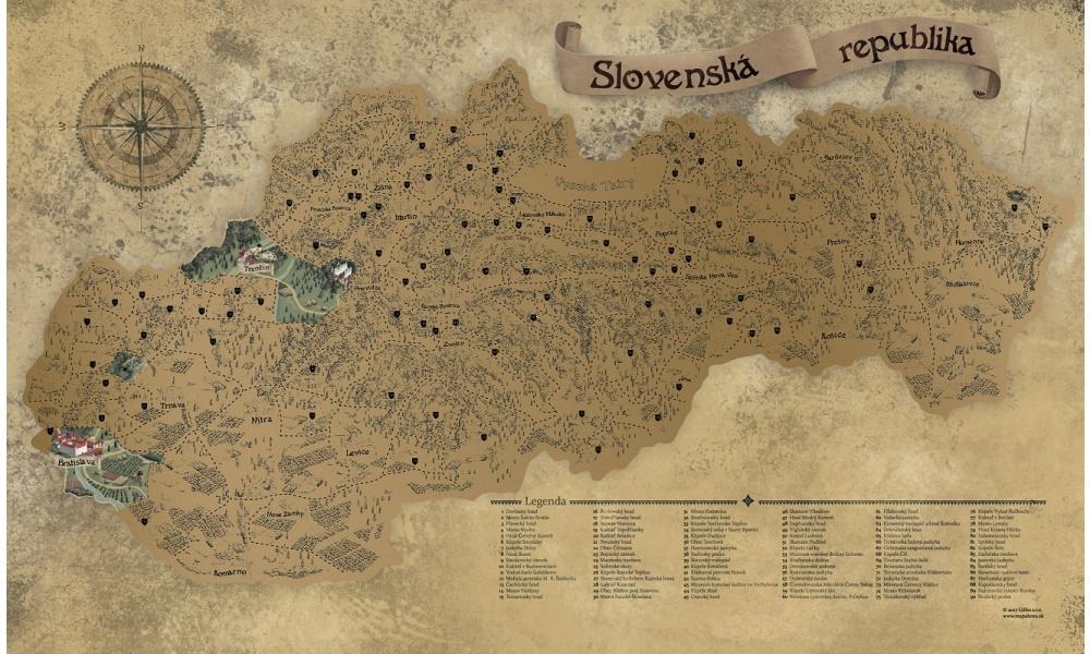 stieracie mapy slovensko a svet