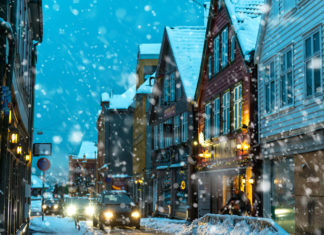 historické centrum Bergenu