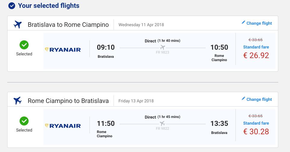lacné letenky do ríma