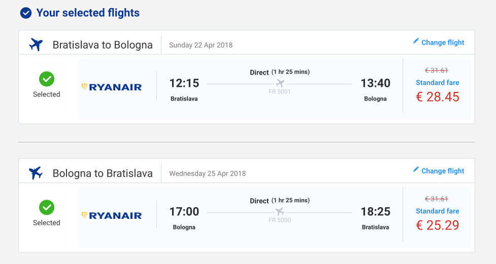 letenky z Bratsilavy s ryanair do bologne