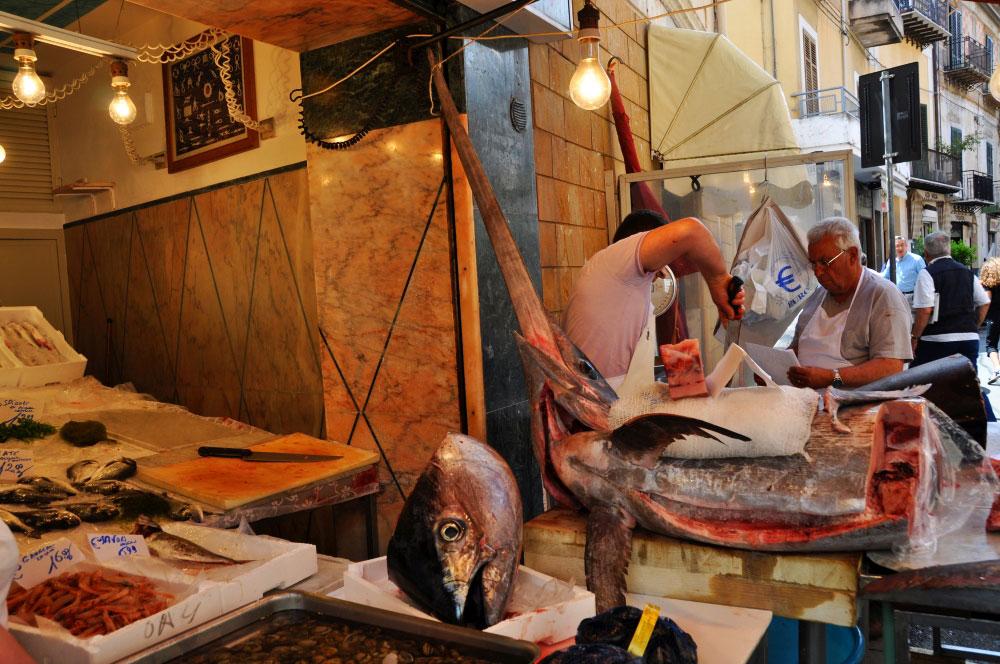 catania rybí trh