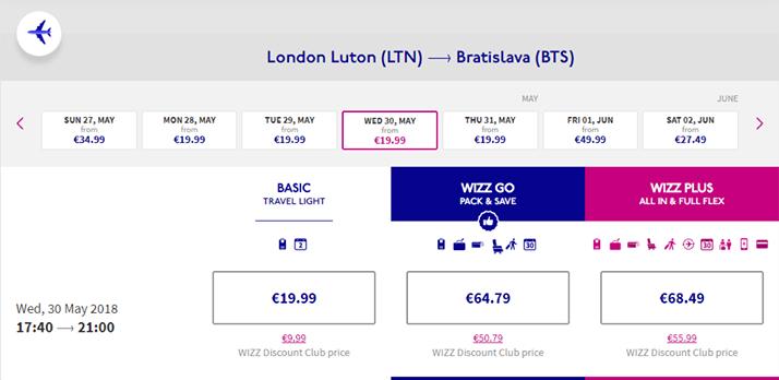 Letenky do Londýna s WizzAir