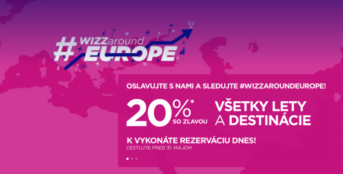 zlava 20 percent wizz air