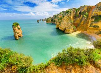 pobrežie v regióne Algarve, Portugalsko