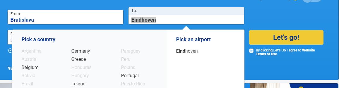 letenky Eindhoven