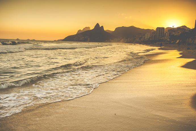Pláž v Brazílii