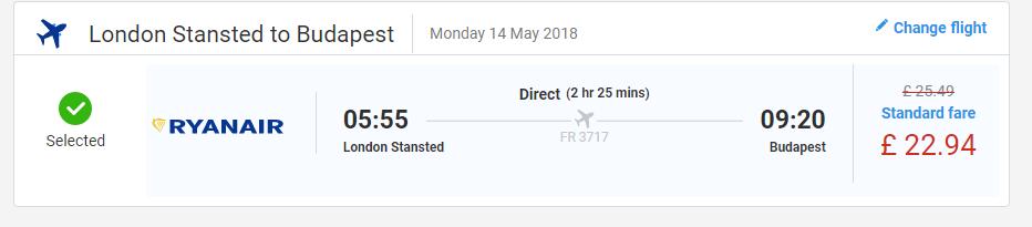 letenky z Londýna do Budapešti