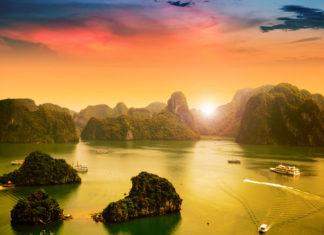 Vietnam západ Slnka