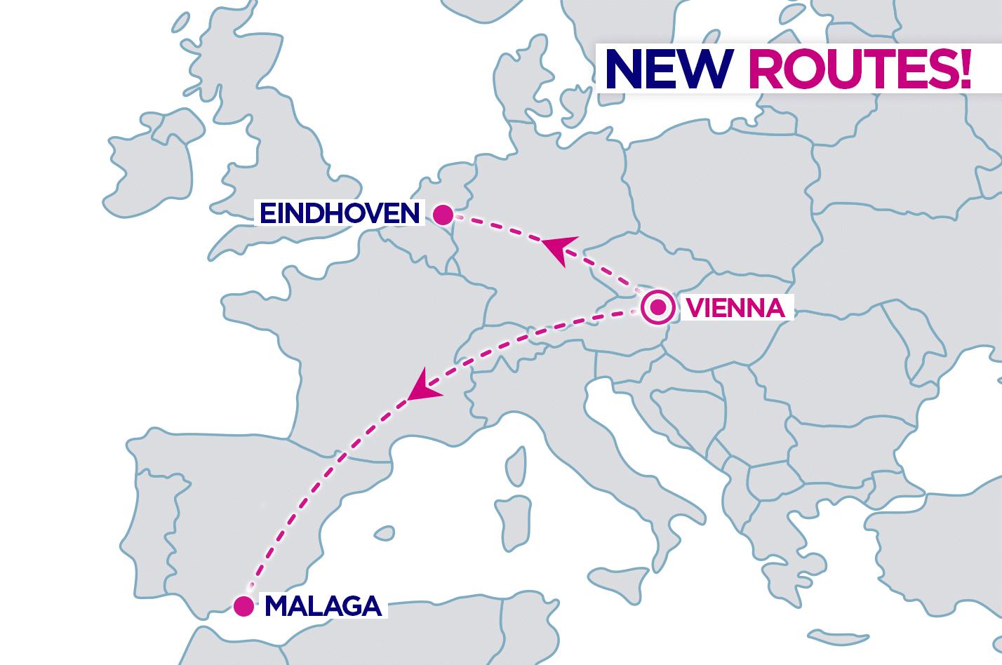 nové linky z Viedne od WizzAir-u