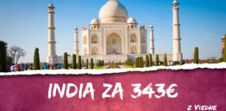 letenky z Viedne do Indie za 343€