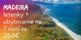 Madeira na Nový rok 2019 za 264€ - letenky a ubytovanie dohromady