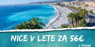 letenky z Viedne do Nice za 56€
