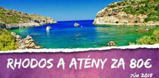 Rhodos a Atény v júni za 80€