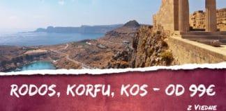Rodos, Korfu a Kos už od 99€
