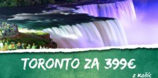 letenky z Košíc do Toronta za 399€