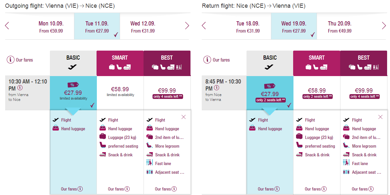 letenky z Viedne do Nice
