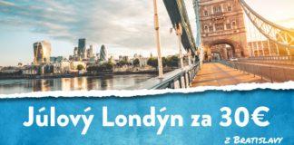 letenky z Bratislavy do Londýna za 30€