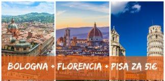 Bologna + Florencia + Pisa za 51€