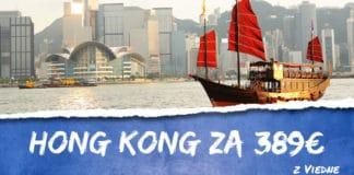 letenky z Viedne do Hong Kong-u za 389€