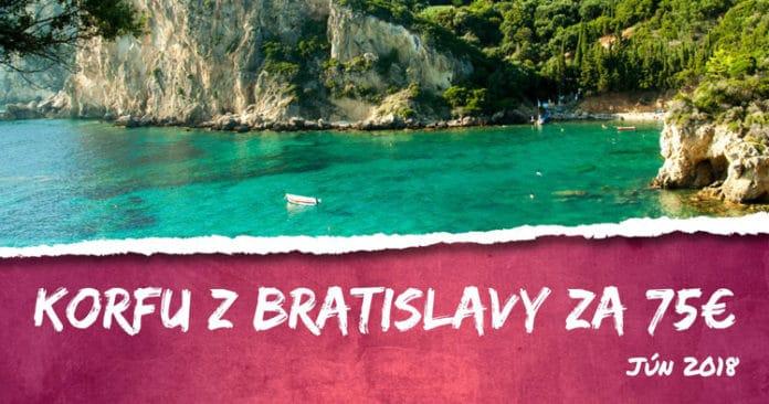 letenky z Bratislavy na Korfu za 75€