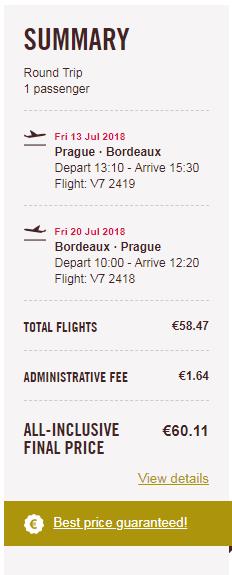 letenky z Prahy do Bordeaux