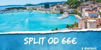 letenky z Katovíc do Split-u od 66€