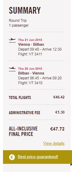 letenky z Viedne do Bilbaa za 48€